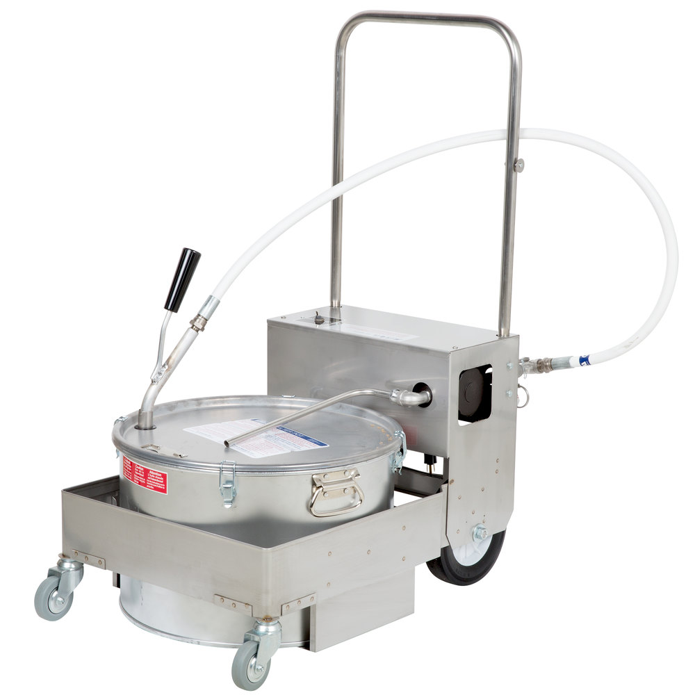 Miroil Bd707 75 Lb Fryer Oil Electric Filter Machine And