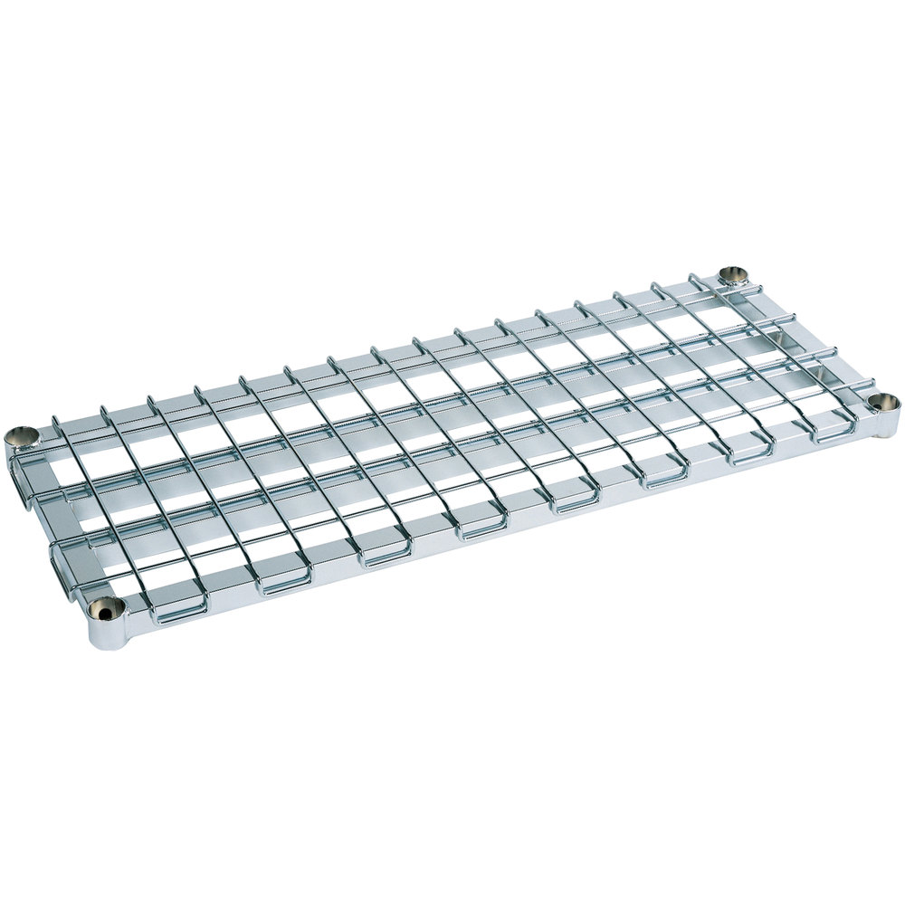 "Metro 2448DRC 48"" x 24"" Chrome Heavy Duty Dunnage Shelf with Wire Mat - 1300 lb. Capacity"
