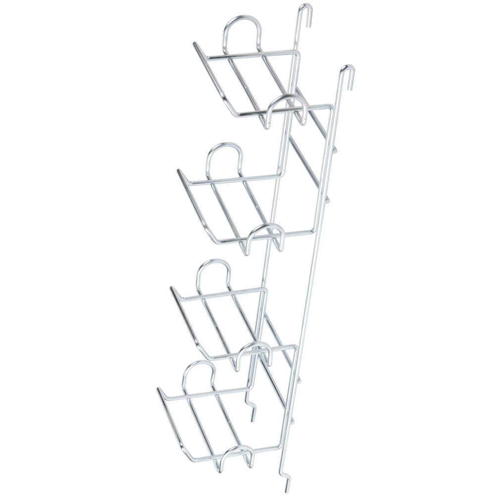 "Metro CR4LPBR Low-Profile Grid Mounted Can Rack - 6 1/2"" x 7 3/4"" x 28 1/2"""