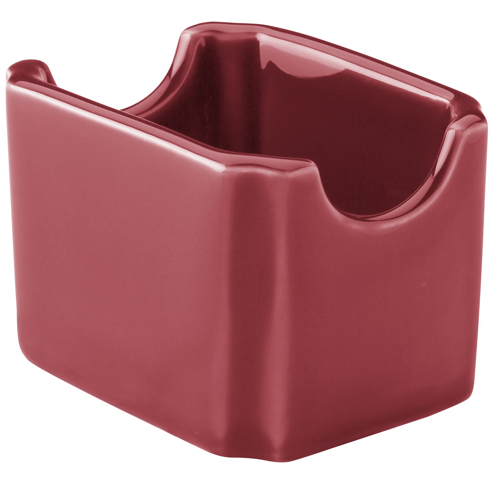 Hall China 30716326 Scarlet Colorations Sugar Packet Holder - 24/Case