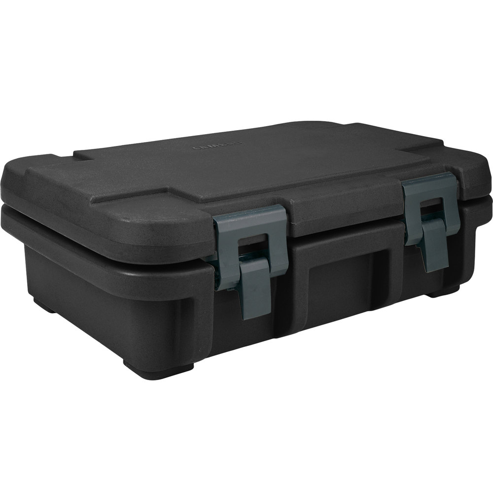 "Cambro UPC140110 Black Camcarrier Ultra Pan Carrier - Top Load for 12"" x 20"" Food Pan"