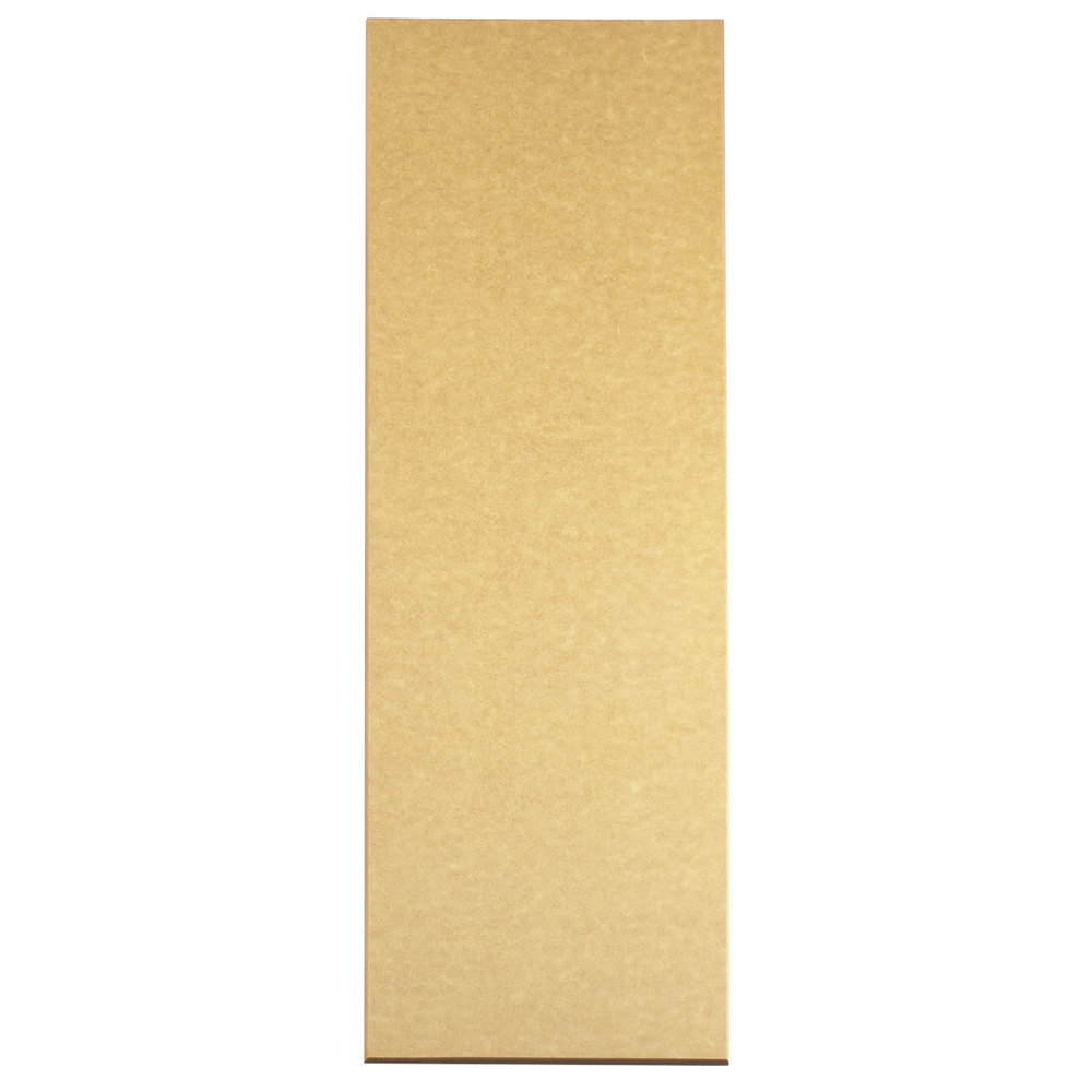 "Cal-Mil 1530-616-14 Natural Rectangular Flat Bread Serving / Display Board - 16"" x 6"" x 1/4"""