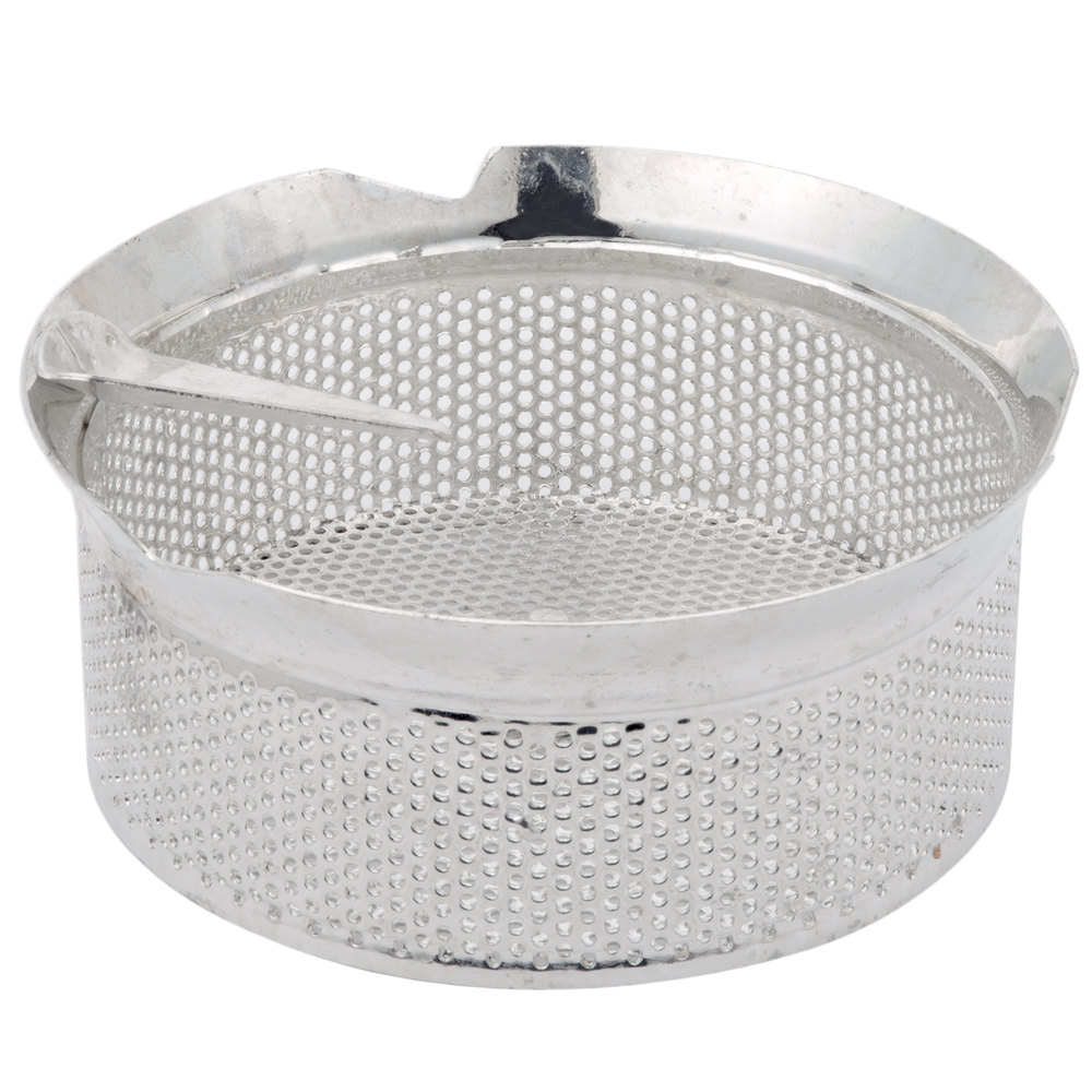 "Tellier M5030 1/8"" Perforated Replacement Sieve for # 5 Food Mill - Tin-Plated Steel"