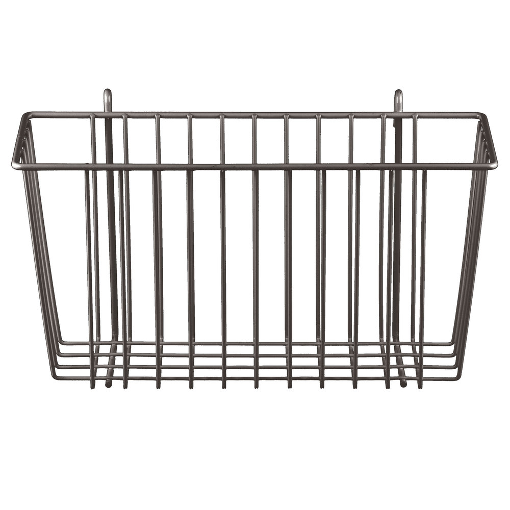 "Metro H209-DCH Copper Hammertone Storage Basket for Wire Shelving 13 3/8"" x 5"" x 7"""