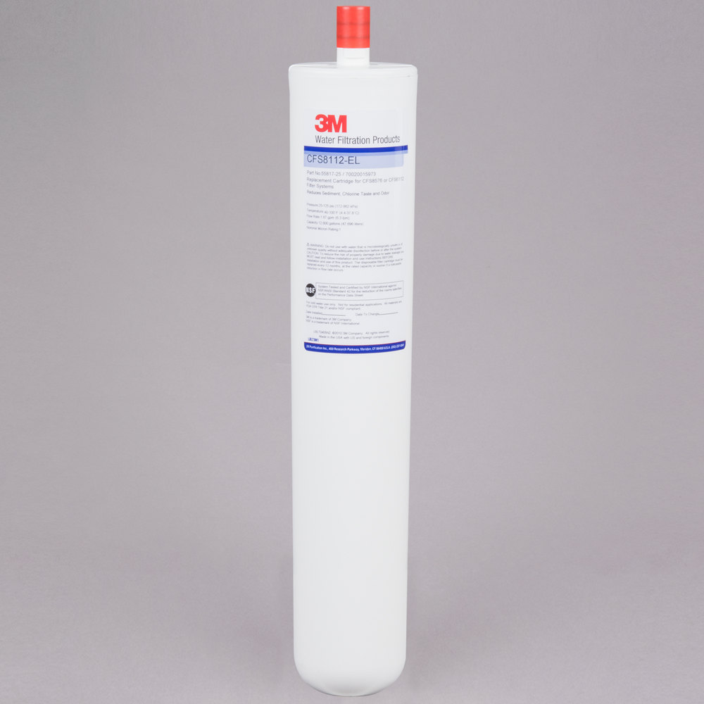 "3M Cuno CFS8112EL 17 1/8"" Replacement Sediment, Chlorine Taste and Odor Reduction Cartridge - 1 Micron and 1.67 GPM"