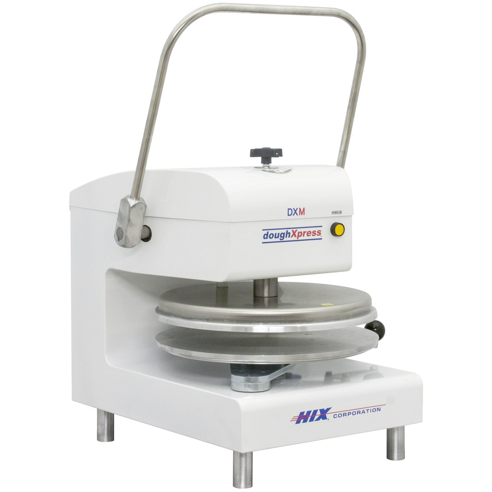 DoughXpress DXM-WH Manual Pizza Dough Press 18""