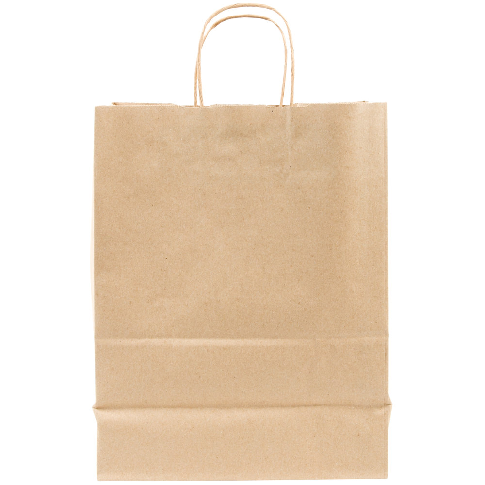 Duro Missy Natural Kraft Paper Shopping Bag with Handles 10