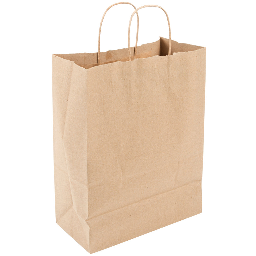 Duro Missy Natural Kraft Paper Shopping Bag With Handles