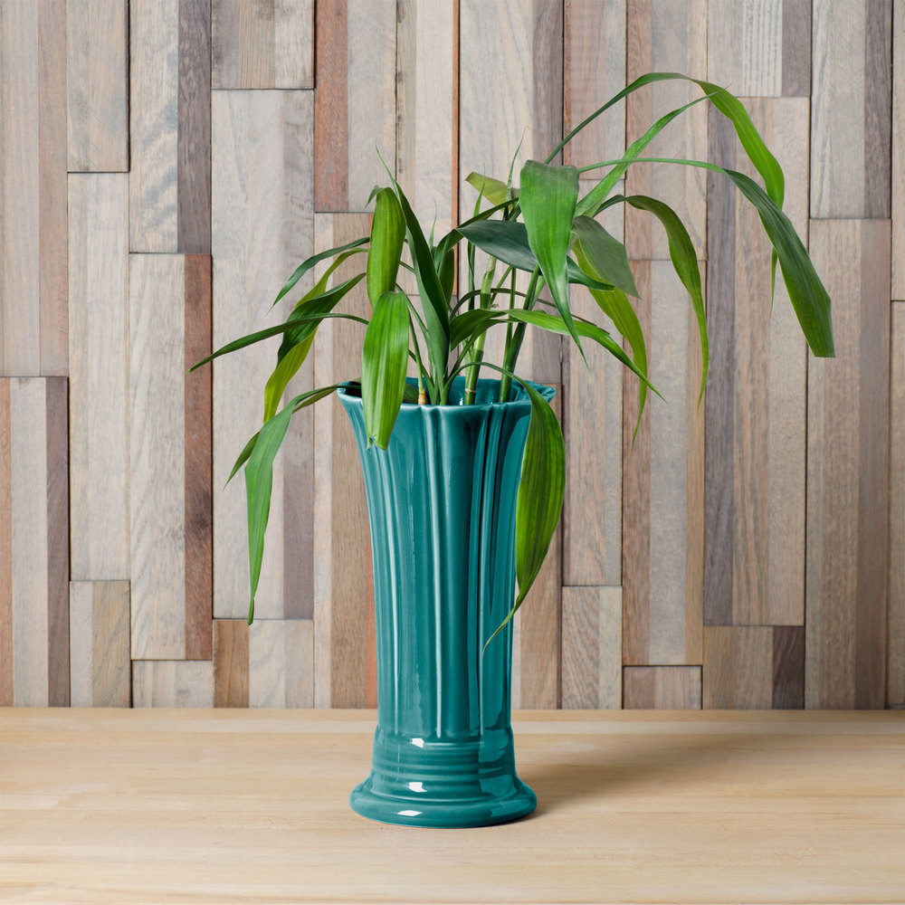 "Homer Laughlin 491107 Fiesta Turquoise 9 5/8"" Medium Vase - 4 / Case"