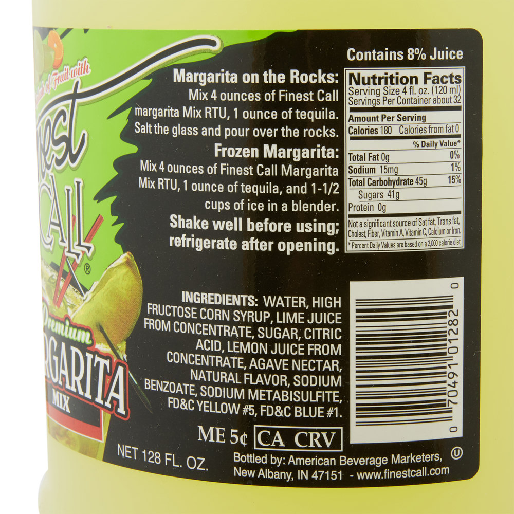 Finest Call Ready To Use Margarita Drink Mix  Gallon