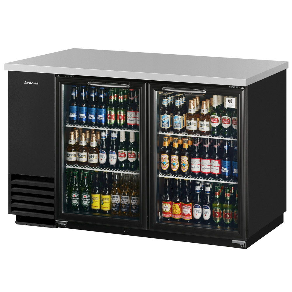 turbo air tbb 2sg 59 glass door back bar refrigerator. Black Bedroom Furniture Sets. Home Design Ideas
