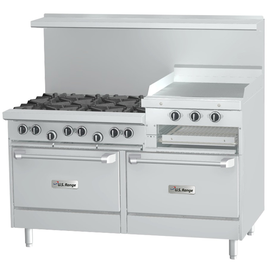 Stove With Griddle ~ Garland sunfire series r rr natural gas burner