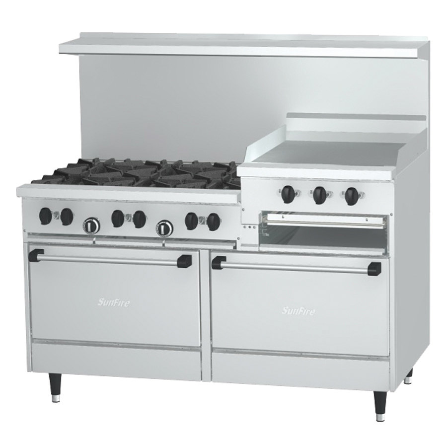 Stove With Griddle ~ Garland sunfire series g rr natural gas burner