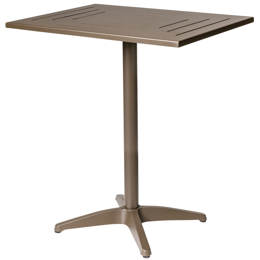 bfm seating phh2432bzt hampton 24 x 32 bronze aluminum bar height table. Black Bedroom Furniture Sets. Home Design Ideas