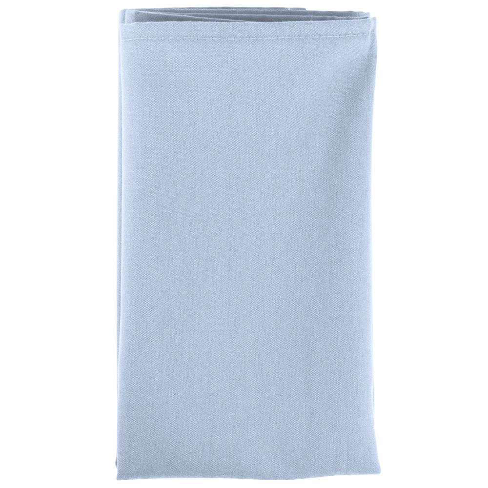 20 Quot X 20 Quot Light Blue Hemmed Polyspun Cloth Napkin 12 Pack