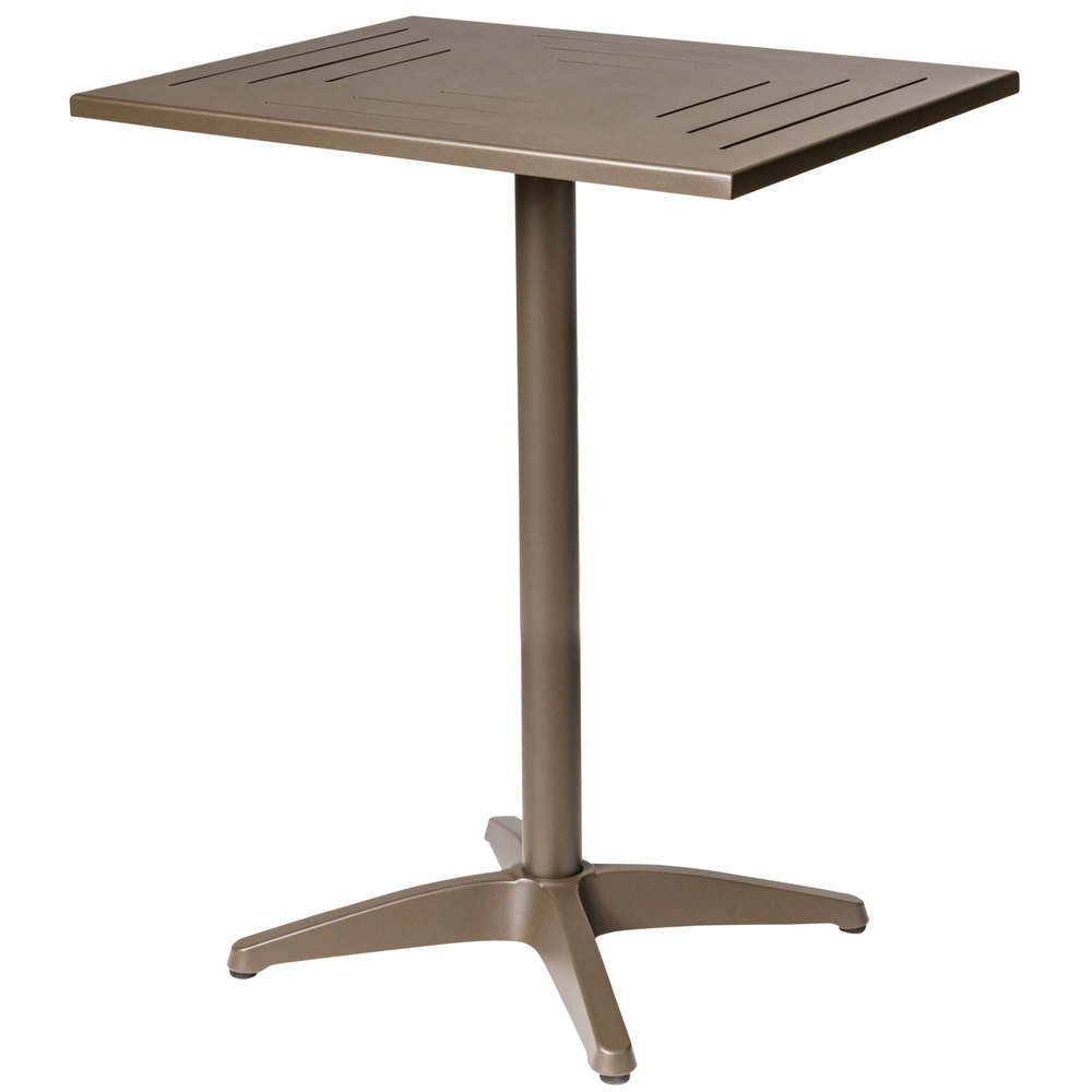 ... Square Bronze Aluminum Bar Height Table. Main Picture