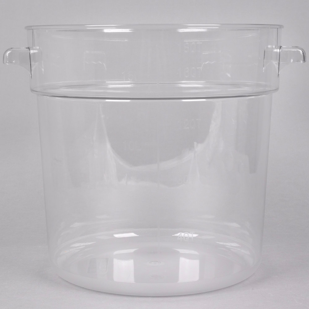 18 qt clear round food storage container. Black Bedroom Furniture Sets. Home Design Ideas