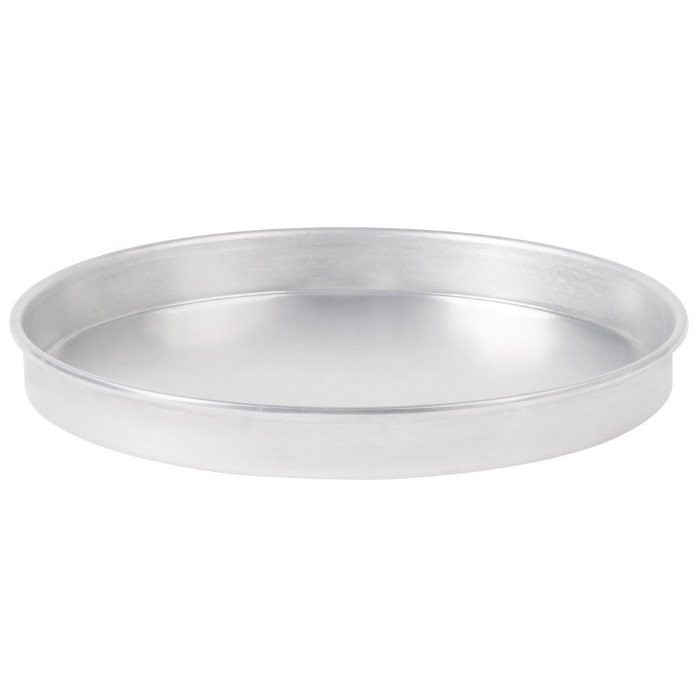 "American Metalcraft A4015 15"" x 1"" Standard Weight Aluminum Straight Sided Pizza Pan"