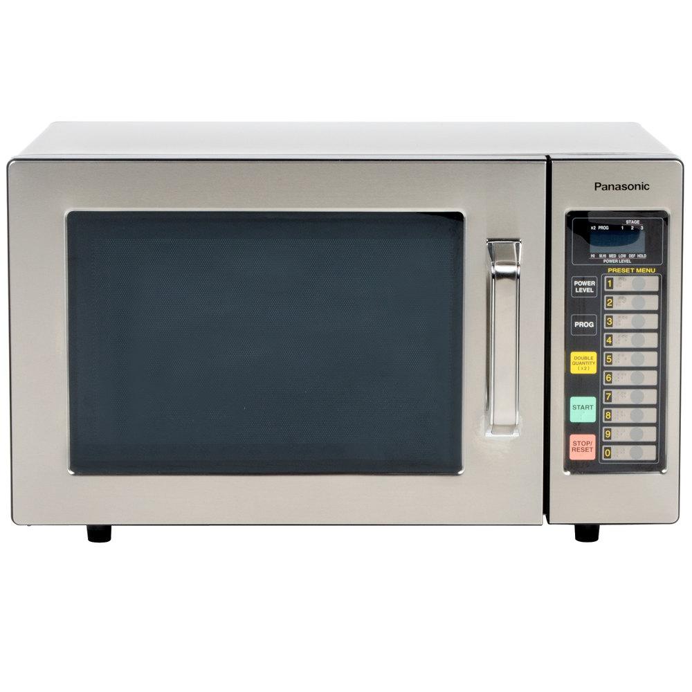 Panasonic Ne 1064f Stainless Steel Commercial Microwave Oven 120v 1000w