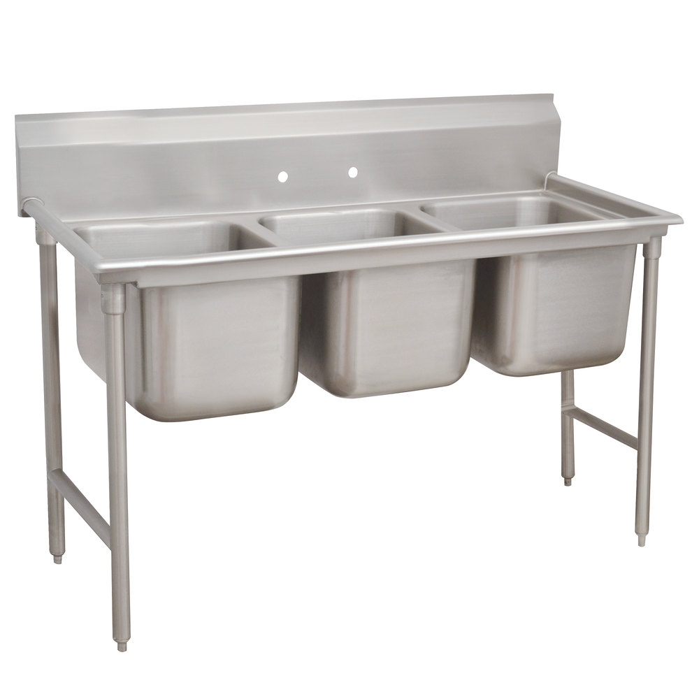 Advance Tabco 93-43-72 Regaline Three Compartment Stainless Steel Sink - 86""