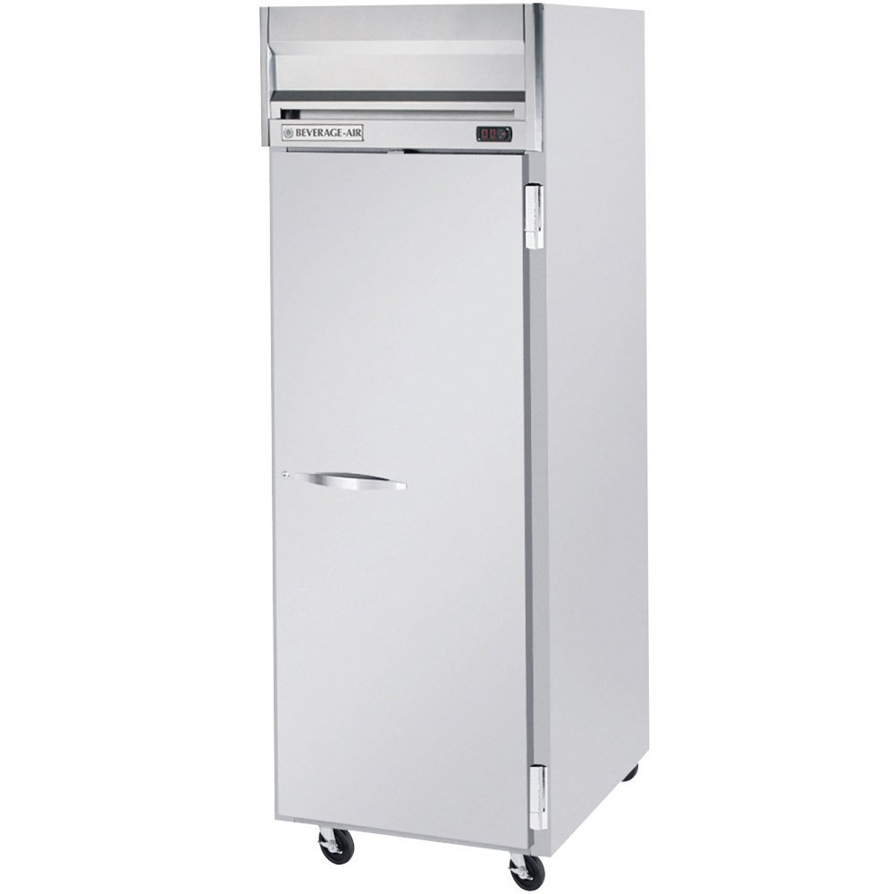 Beverage Air HRS1-1S 1 Section Solid Door Reach-In Refrigerator - 24 cu. ft., SS Front and Interior