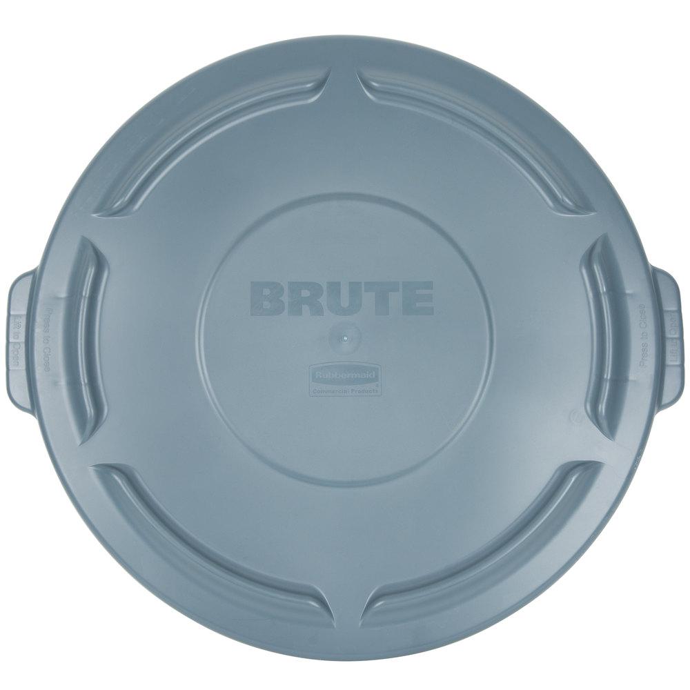 rubbermaid brute 32 gallon gray trash can lid main picture