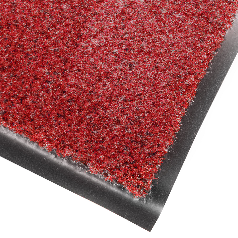 "Cactus Mat 1437R-R3 Catalina Standard-Duty 3' x 60' Red Olefin Carpet Entrance Floor Mat Roll - 5/16"" Thick"