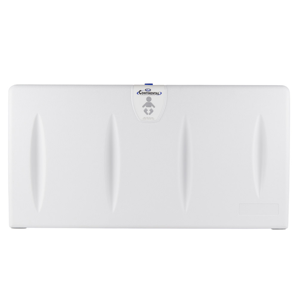 Continental 8252-H White Horizontal Baby Changing Station