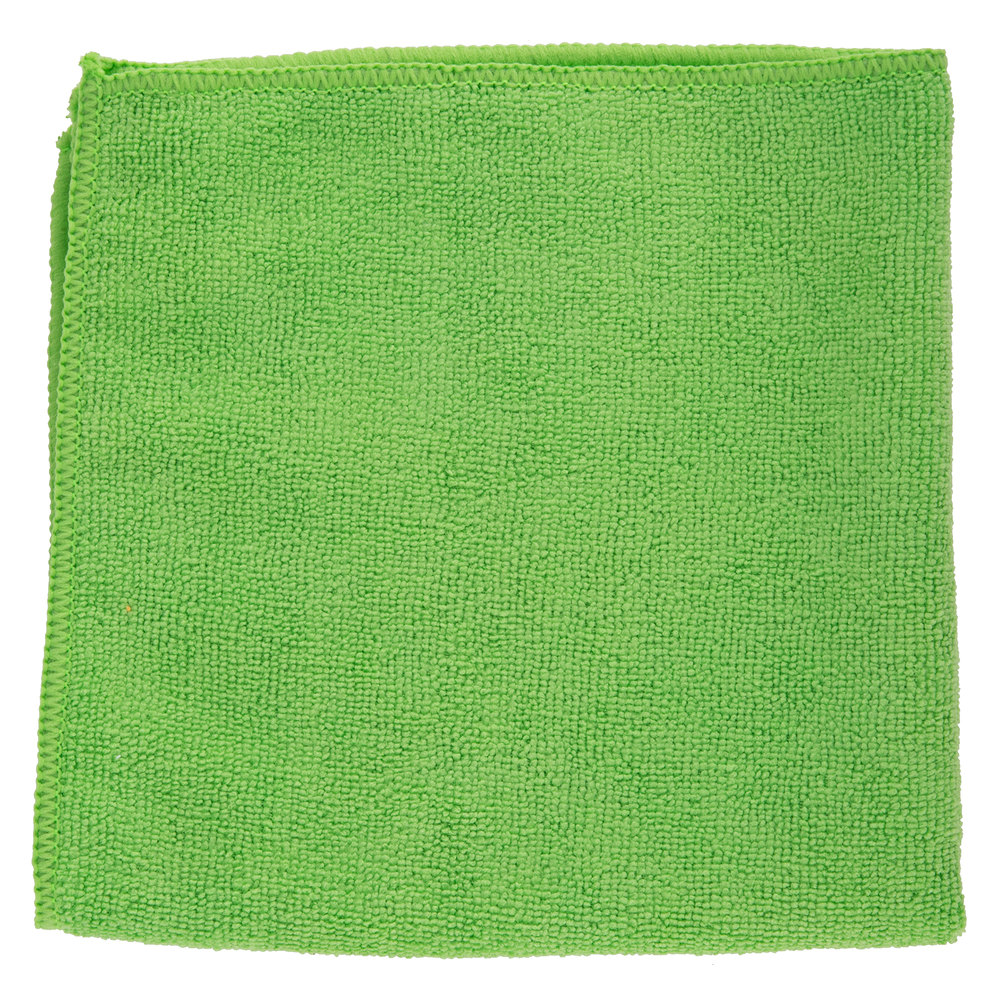 "Green Microfiber Towel: 16"" X 16"" Green Microfiber Cleaning Cloth"