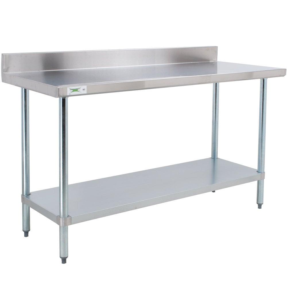 regency 24 x 60 18 gauge 304 stainless steel commercial. Black Bedroom Furniture Sets. Home Design Ideas