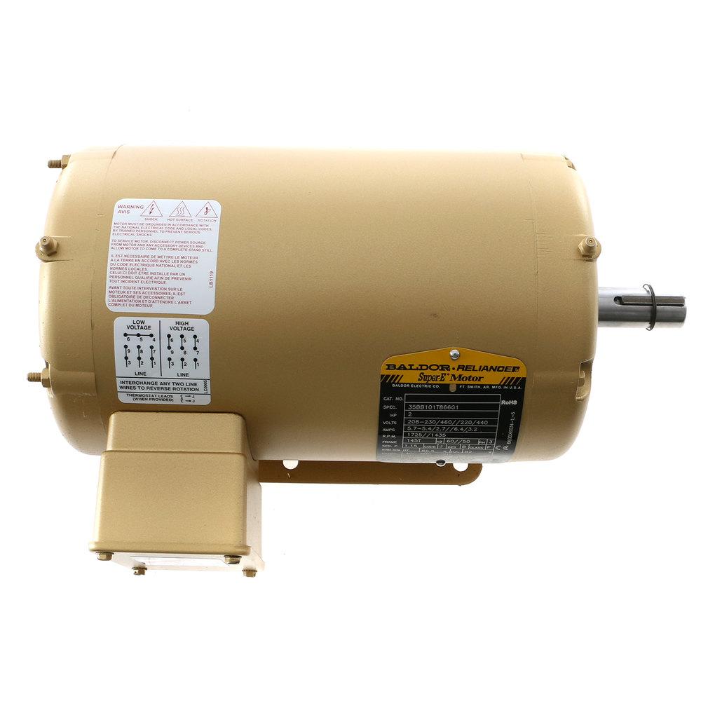 Blakeslee 15126 Motor Baldor High Voltage And Low Wiring