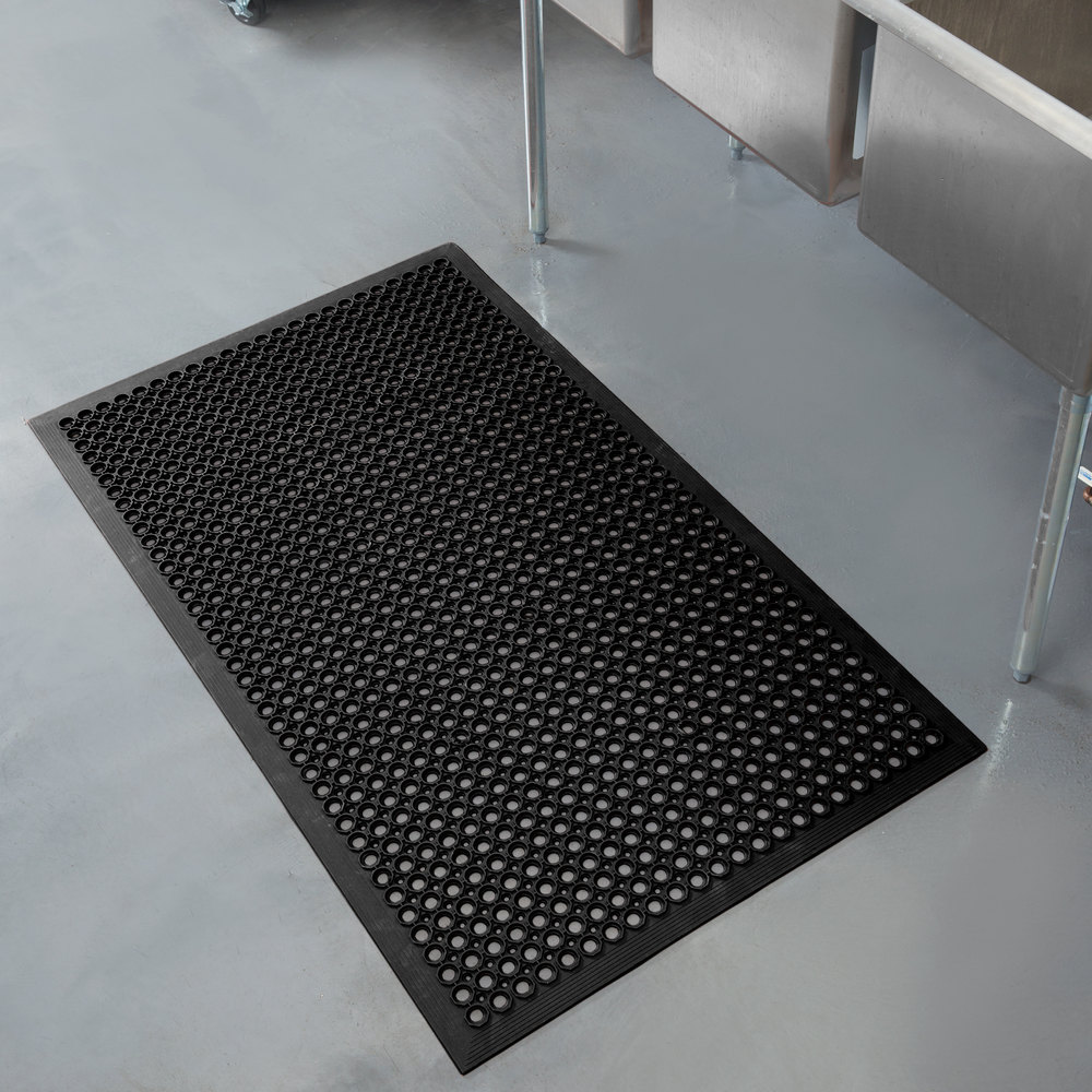 Kitchen Fatigue Floor Mat Apex 755 100 T30 Competitor 3 X 5 Black Anti Fatigue Rubber