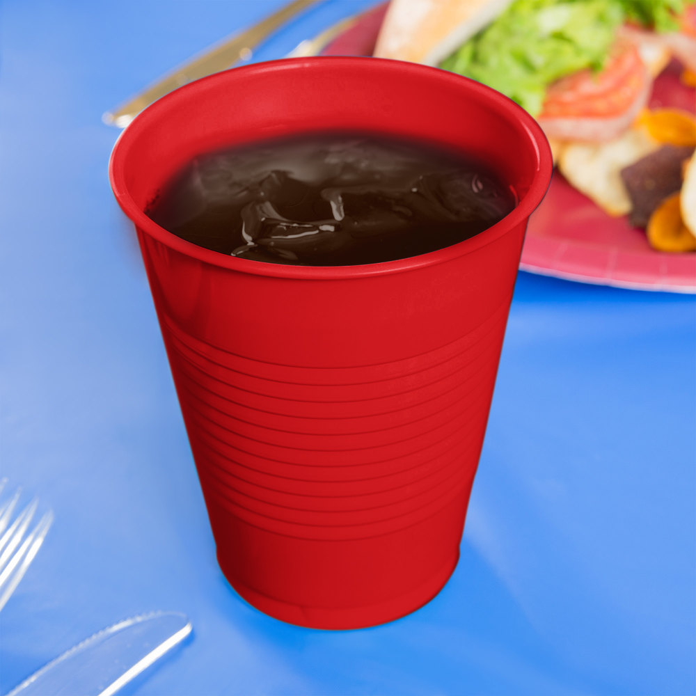 Creative Converting 28103181B 16 oz. Classic Red Plastic Cup - 50/Pack