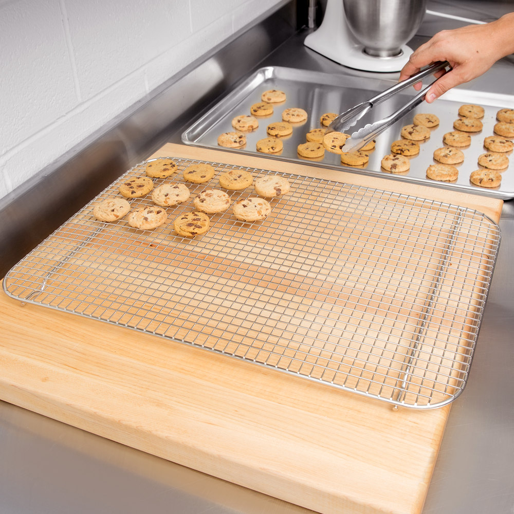 Vollrath 20038 Super Pan V Full Size Stainless Steel Wire Cooling Rack for Bun / Sheet Pan