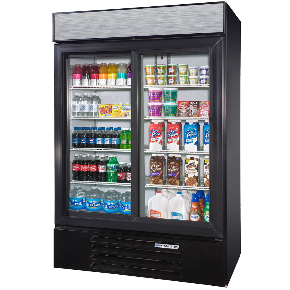 Beverage Air Lv45 1 B Led Black Lumavue 52 Quot Refrigerated