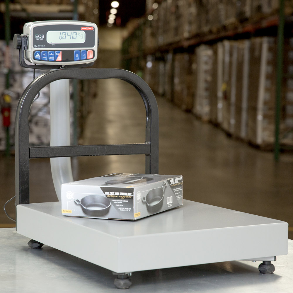 Tor Rey EQB-50/100 100 lb. Digital Receiving Bench Scale, Legal for Trade