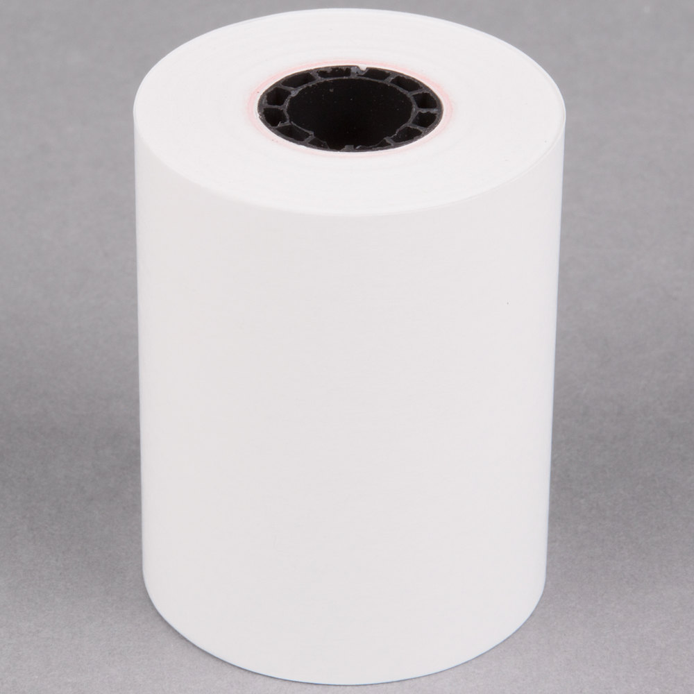 "2 1/4"" x 85' Thermal Cash Register POS Paper Roll Tape - 50/Case"