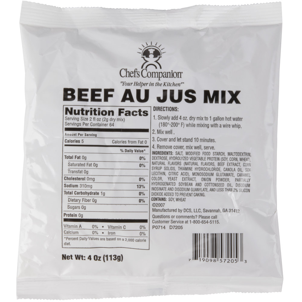 Chef's Companion Au Jus Mix