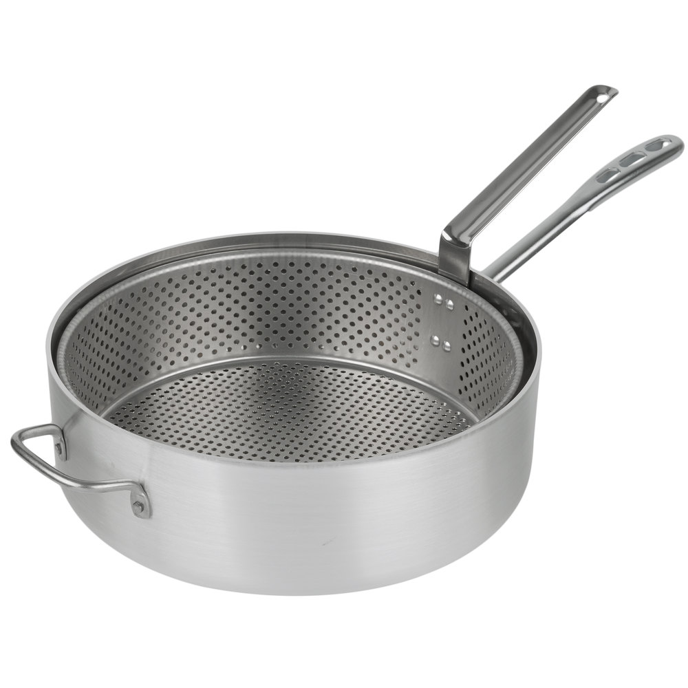 Vollrath 68228 wear ever 12 qt heavy duty aluminum fry for Friteuse fust