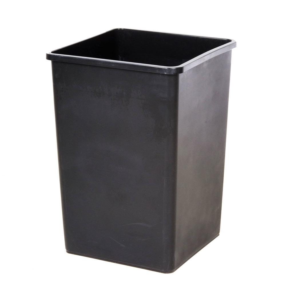 Black 35 Gallon Square Trash Can