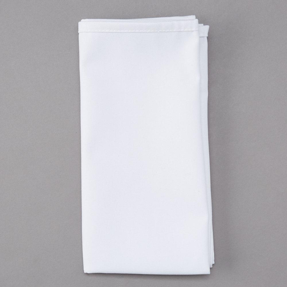White Napkin 50 50 Cloth Poly Cotton Napkin 12 Pack