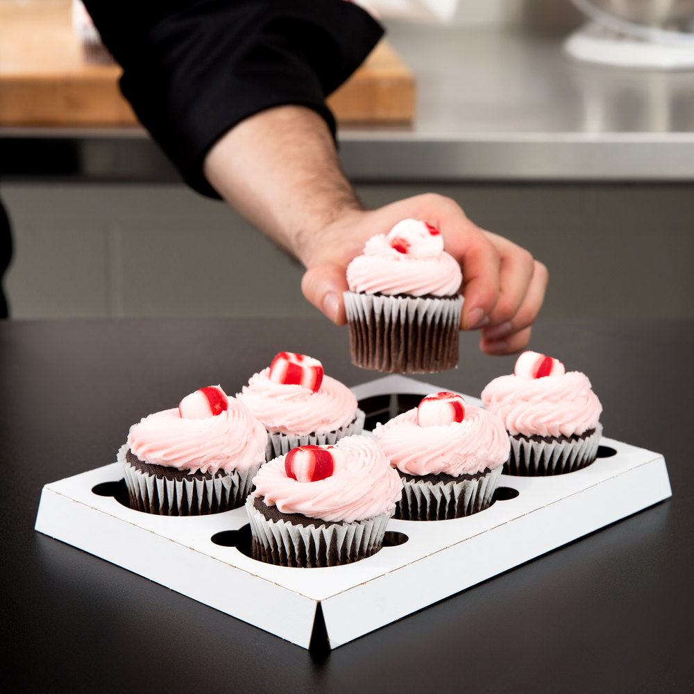 Southern Champion 1010 Cupcake Insert - Standard - Holds 6 Cupcakes - 200/Case