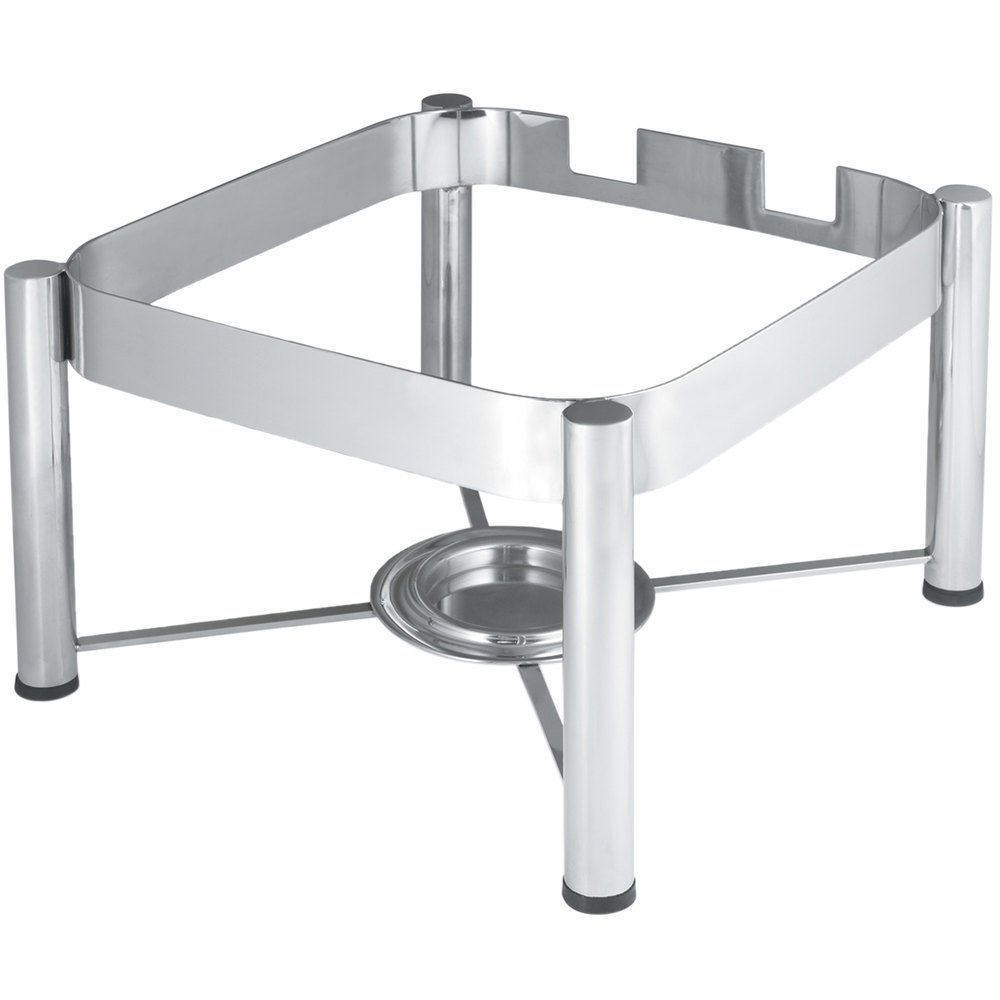 vollrath stainless steel chafer stand for 6 qt square intrigue induction chafers