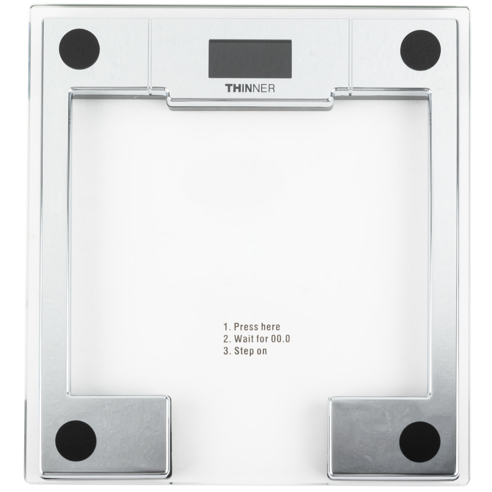 Conair Ms 8140wh Thinner Digital Glass Scale With Chrome Frame