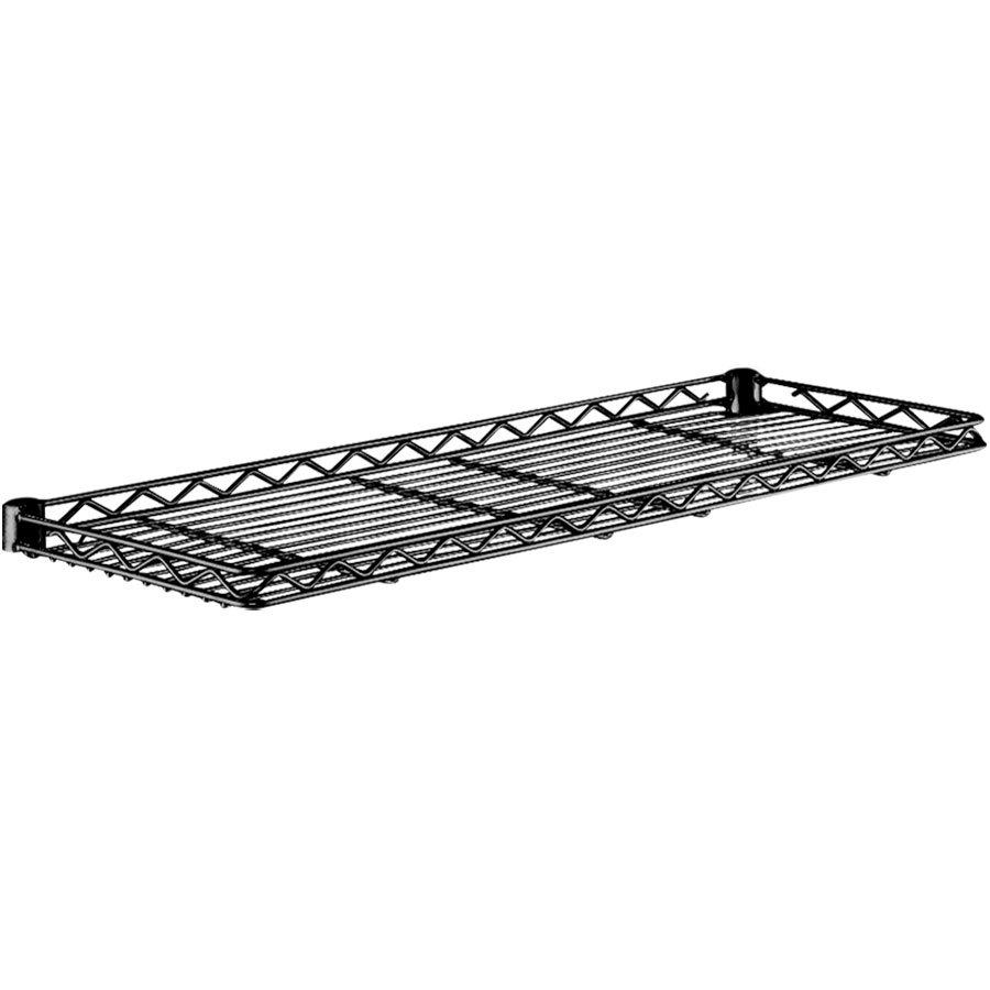"Metro 1230CSNBL Black Cantilever Shelf - 12"" x 30"""