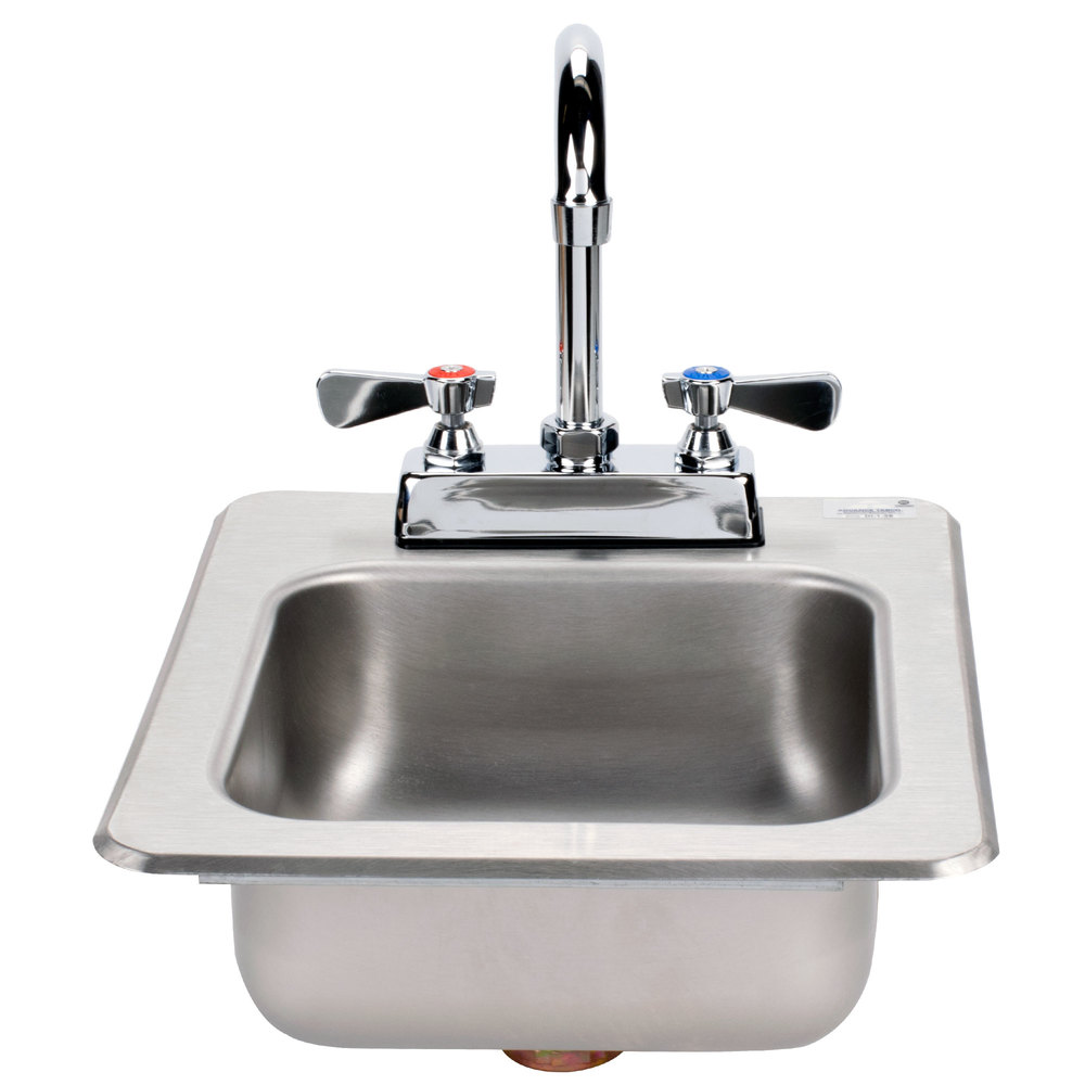 Extra Deep Stainless Steel Utility Sink : Advance Tabco DI-1-25 Drop In Stainless Steel Sink 5