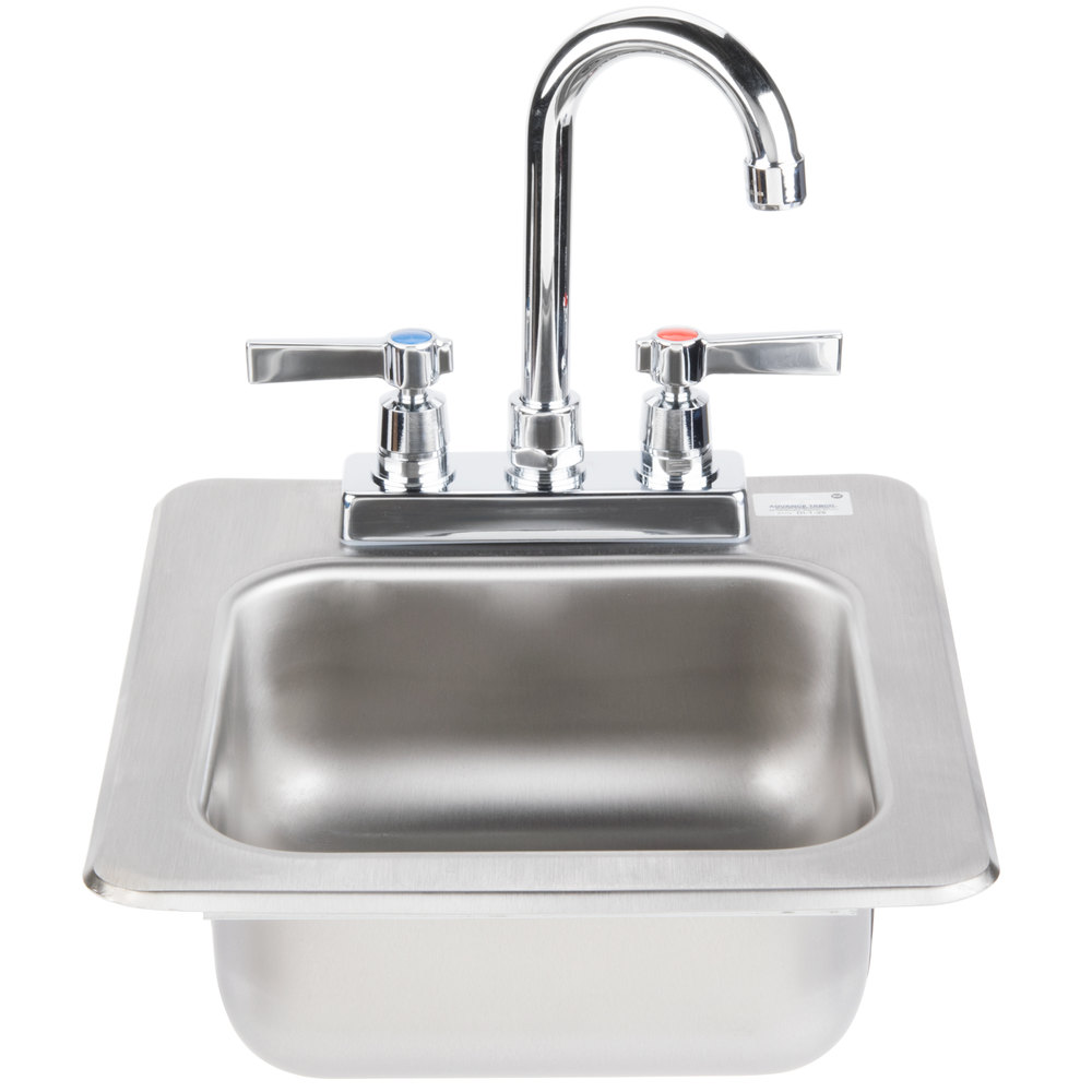 "Advance Tabco DI-1-25 Drop In Stainless Steel Sink 5"" Deep"