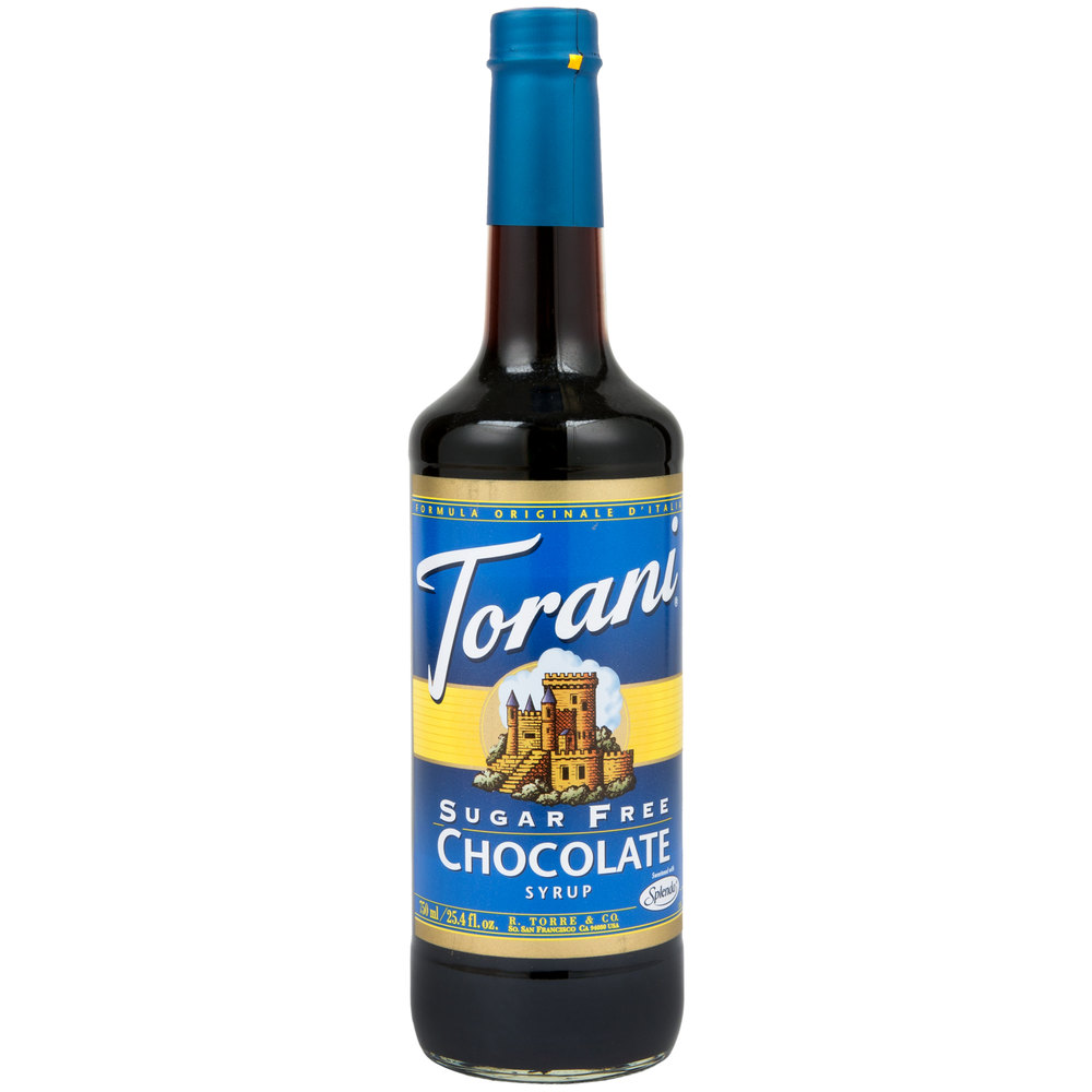 Torani 750 mL Sugar Free Chocolate Flavoring Syrup