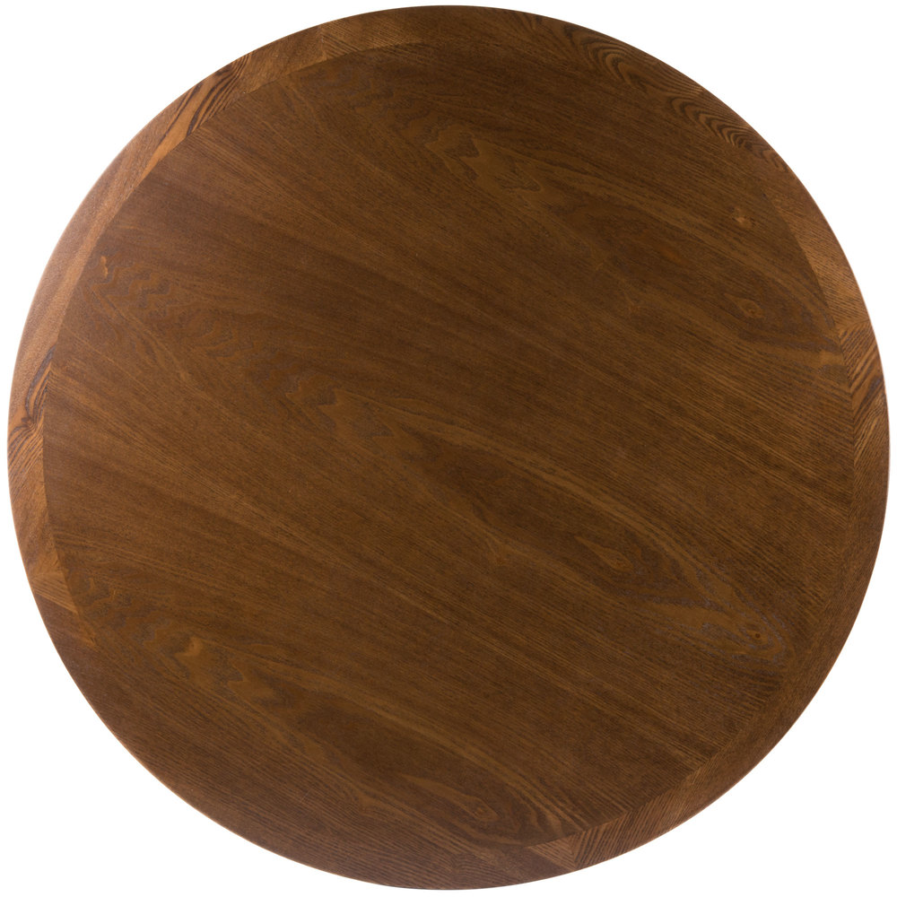 "BFM Seating VN30RAA 30"" Round Autumn Ash Veneer Indoor Table Top"