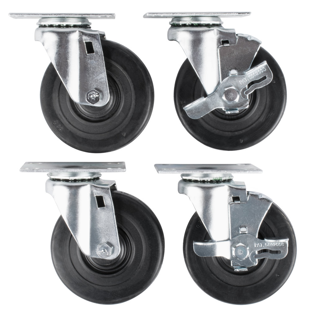 "Vollrath 38099 4"" Swivel Casters for Vollrath ServeWell Hot and Cold Food Tables - 4/Set"